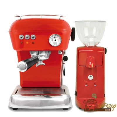 預購商品--《ascaso》 Dream 躍動紅 半自動咖啡機+i-mini電動磨豆機 紅 組合