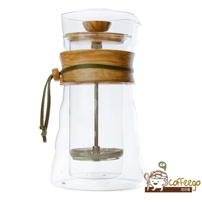 《HARIO》 自然風雙層濾壓咖啡壺400ml / DGC-40-OV