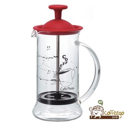《HARIO》大紅法式濾壓咖啡壺 CPSS-2-R 240ml