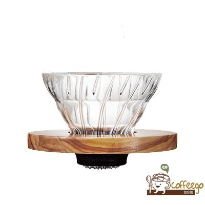 《HARIO》V60橄欖木玻璃濾杯 / 1~2杯 / VDG-01-OV