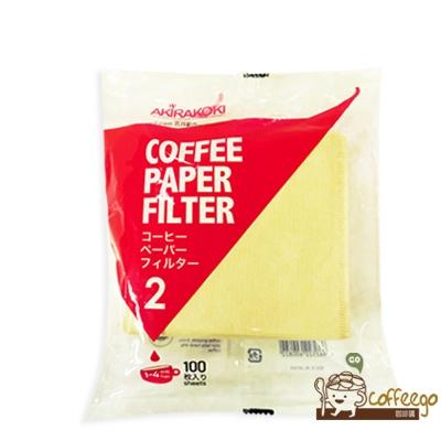 《AKIRAKOKI》V形咖啡濾紙100入 2 / 1-4杯份