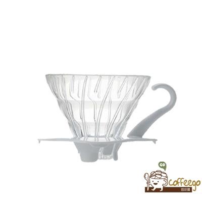 《HARIO》V60白色玻璃濾杯 / 1~2杯 / VDG-01W