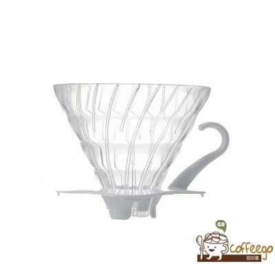 《HARIO》V60白色玻璃濾杯 / 1~4杯 / VDG-02W