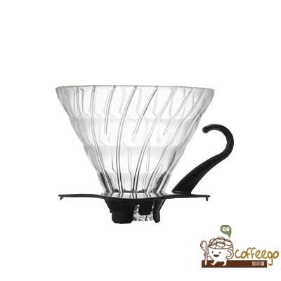 《HARIO》V60黑色玻璃濾杯 / 1~4杯 / VDG-02B