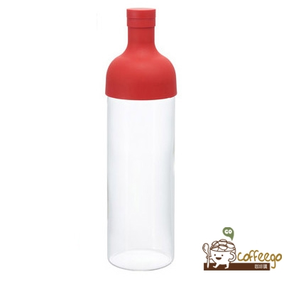 《HARIO》酒瓶紅色冷泡茶壺750ml / FIB-75-R