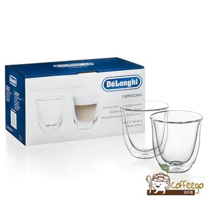 《Delonghi》雙層玻璃拿鐵杯 190ml 二入組