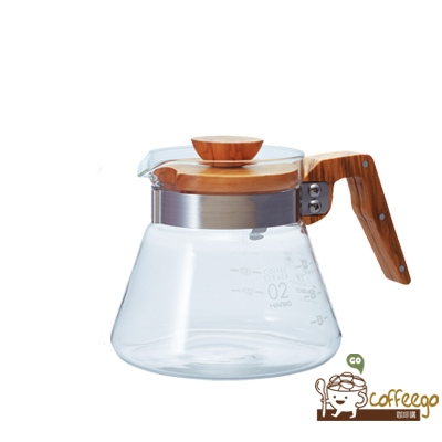 《HARIO》V60橄欖木60好握咖啡壺 / VCWN-60-OV / 600ml