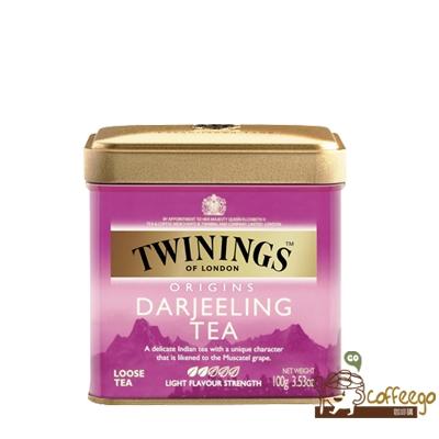英國【TWININGS 唐寧】歐式大吉嶺紅茶罐100g/罐
