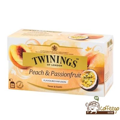 英國【TWININGS 唐寧】Peach & Passion Fruit 熱帶風情茶