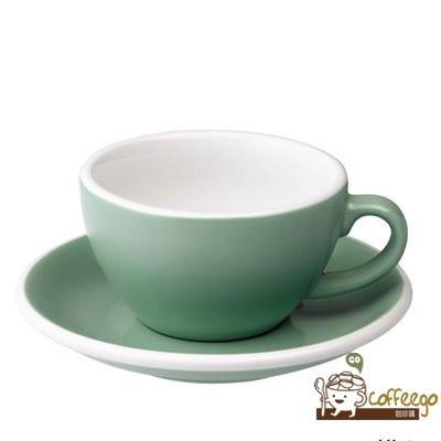 【LOVERAMICS 愛陶樂 】Egg 拿鐵咖啡杯盤組 200ml Mint 薄荷