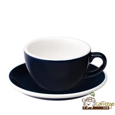 【LOVERAMICS 愛陶樂 】Egg 拿鐵咖啡杯盤組 200ml Denim 丹寧色