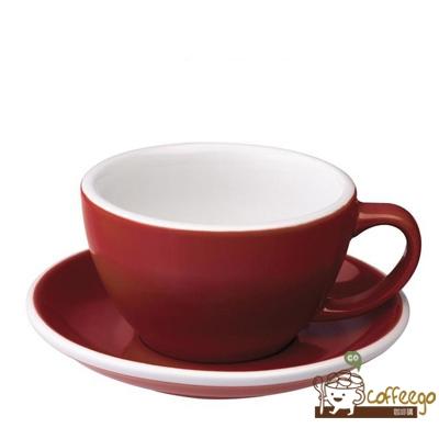 【LOVERAMICS 愛陶樂 】Egg 拿鐵咖啡杯盤組 300ml Red 紅色