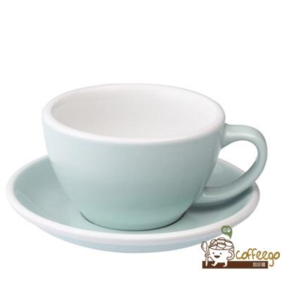 【LOVERAMICS 愛陶樂 】Egg 拿鐵咖啡杯盤組 300ml River Blue 水藍色