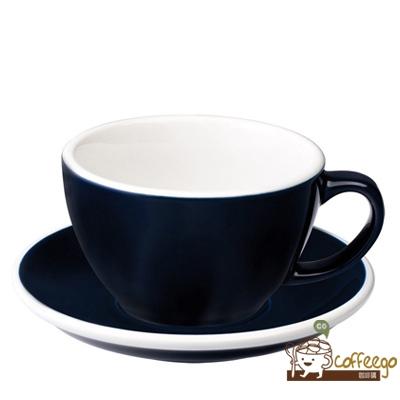 【LOVERAMICS 愛陶樂 】Egg 拿鐵咖啡杯盤組 300ml Denim 丹寧色