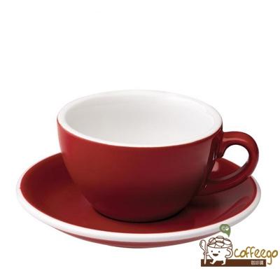【LOVERAMICS 愛陶樂 】Egg 拿鐵咖啡杯盤組 200ml Red 紅色