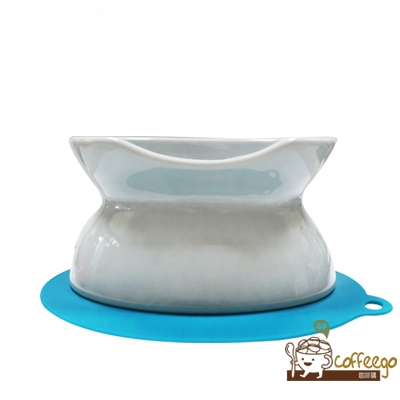 《HARIO》貓咪專用兩用藍色陶瓷碗 PTS-NYD-BGR
