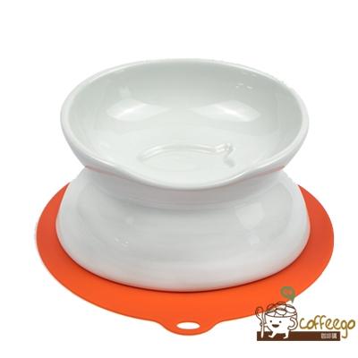 《HARIO》貓咪專用兩用白色陶瓷碗 PTS-NYD-W