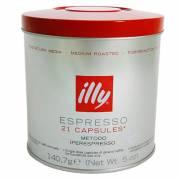 義大利【illy】原裝咖啡膠囊六罐裝(中焙紅)