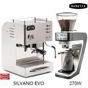 【組合】 QUICK MILL SILVANO EVO喜華諾 義大利半自動雙鍋爐咖啡機+BARATZA SETTE 270 定時間定量磨豆機