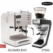 【組合】 QUICK MILL SILVANO EVO喜華諾 義大利半自動雙鍋爐咖啡機+BARATZA SETTE 270Wi 定重量定量磨豆機