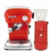 《ascaso》 Dream 躍動紅 半自動咖啡機+i-mini電動磨豆機 紅 組合