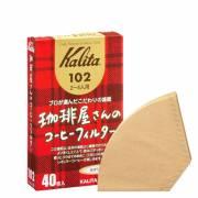 【KALITA】102 咖啡屋 頂級針葉樹 無漂白咖啡濾紙40枚入/盒